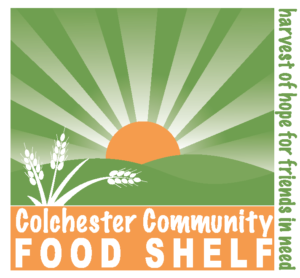 Food Shelf logo with sun rising over the hills