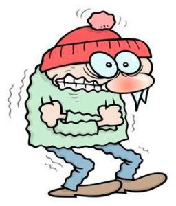A person that looks very cold!