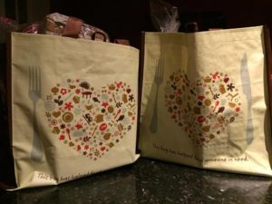 Two Hannaford Fights Hunger shopping bags full of groceries!