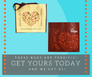 Hannaford Helps bag designs and reminder to get yours today!