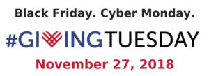 Giving Tuesday Nov. 27, 2018