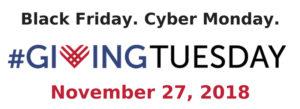 Giving Tuesday Nov. 27, 2018