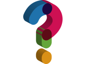 Colorful question mark