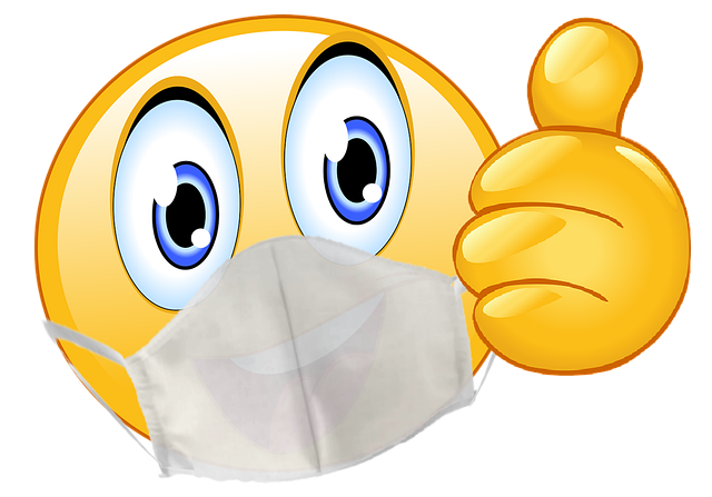 Emoji wearing a mask