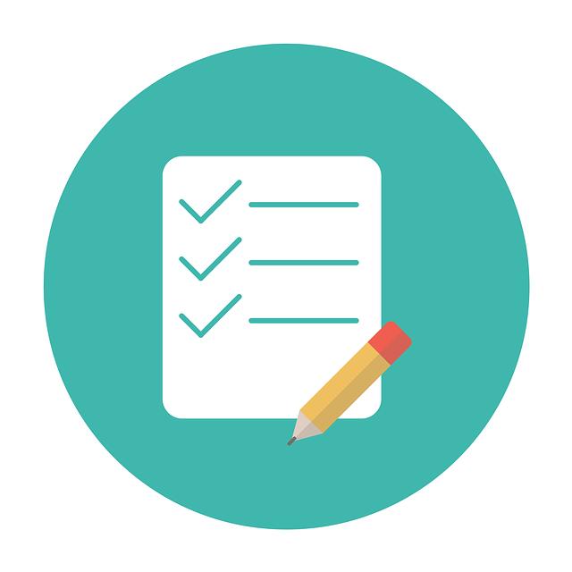 A checklist with a pencil.